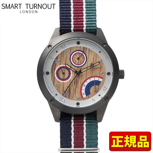 【送料無料】SMART TURNOUT スマートターンアウト STE1-AR18 9814005 メンズ 腕時計 ウォッチ ナイロン バンド 赤 レッド 青 ネイビー 緑 グリーン 正規品 誕生日プレゼント 男性 父の日 ギフト