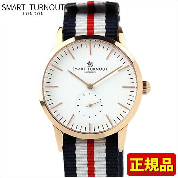 【送料無料】SMART TURNOUT スマートターンアウト STK3-WH PG 9814040 メンズ用 腕時計 ウォッチ ナイロン バンド 白 ホワイト 赤 レッド 青 ネイビー 誕生日プレゼント 男性 ギフト