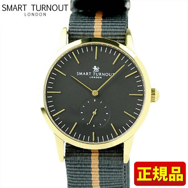 【送料無料】SMART TURNOUT スマートターンアウト STK3-BK YG 9814041 メンズ用 腕時計 ウォッチ ナイロン バンド 黒 ブラック 誕生日プレゼント 男性 卒業祝い 入学祝い ギフト