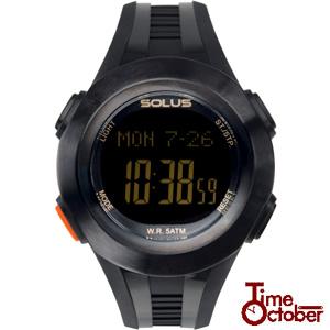 SOLUS Pro 101 ソーラス 多機能 運動 ダイエット 腕時計レディース メンズ 時計 01-101-001 黒 ブラック ランニング スポーツ 健康 トレーニング ウォーキングスポーツ誕生日プレゼント 男性 女性 クリスマス ギフト
