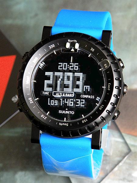 ★ 有SS018731000蓝色系统瘫痪海外moderusuntokoa CORE BLUE CRUSH高度/气压/测深器的本格户外人手表