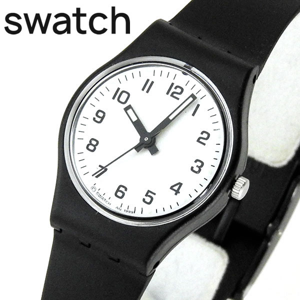 ee25b516bad Swatch LB153 something new white and black composed simply watch ladies    plastic