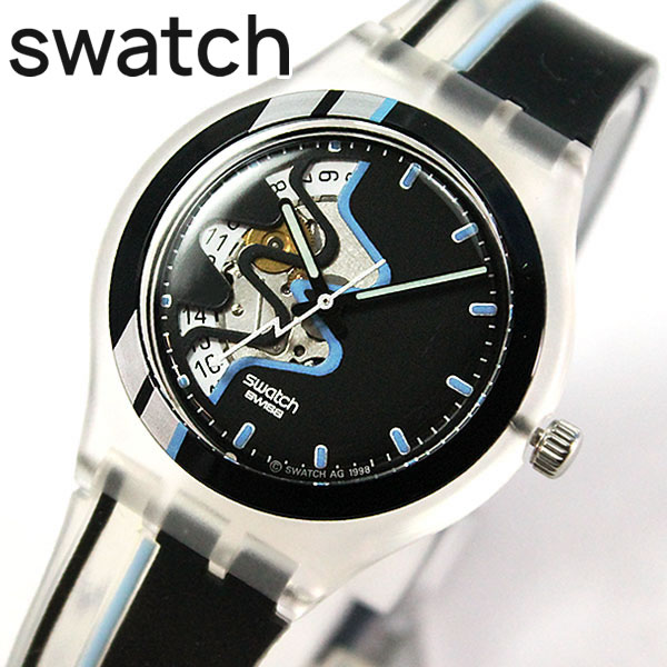 Swatch swatch Glimp STK401 automatic calendar overseas model men's men's  watch brand new watch watch auto quartz