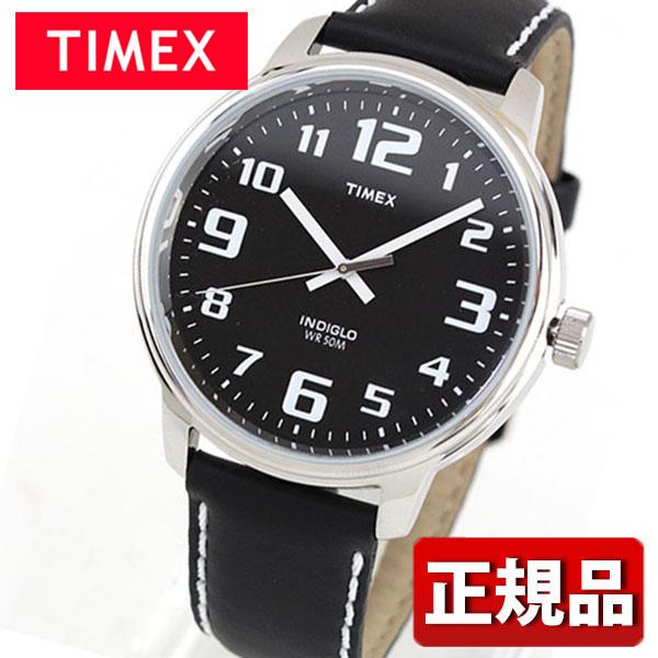 TIMEX タイメックス Big easy Reader ビッグイージーリーダー T28071 国内正規品 メンズ レディース 腕時計 ユニセックス ウォッチ 革ベルト レザー クオーツ アナログ 黒 ブラック誕生日プレゼント 男性 女性 クリスマス ギフト