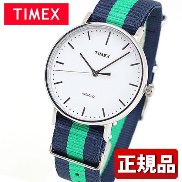 メーカー1年保証 TIMEX タイメックス Weekender Fairfield ウィークエンダーフェアフィールド TIMEX-TW2P90800 国内正規品 メンズ レディース 腕時計 男女兼用 ユニセックス ナイロン バンド クオーツ アナログ 白 ホワイト 青 ネイビー 緑 グリーン ギフト