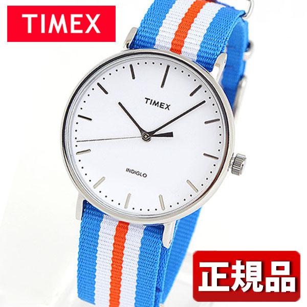 メーカー1年保証 TIMEX タイメックス Weekender Fairfield ウィークエンダーフェアフィールド TIMEX-TW2P91100 国内正規品 メンズ レディース 腕時計 男女兼用 ユニセックス ナイロン バンド クオーツ アナログ 白 ホワイト 青 ブルー オレンジ ギフト