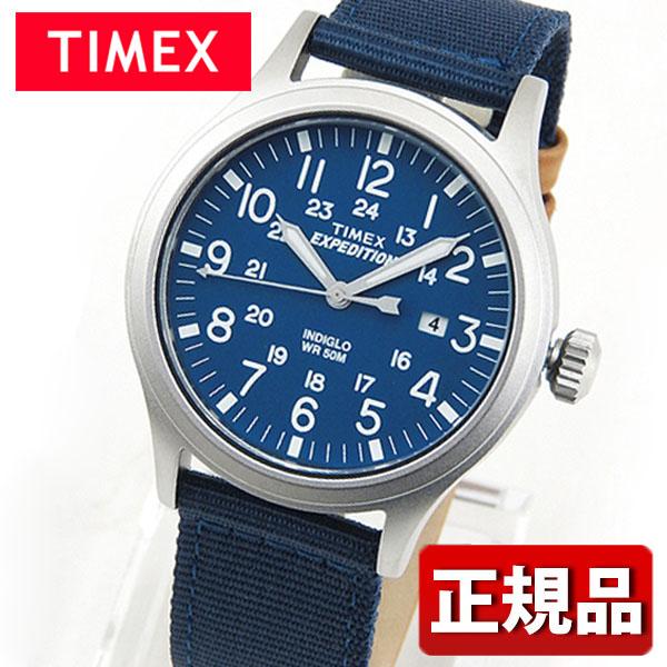 TIMEX タイメックス Expedition スカウトメタルブルー TW4B07000 国内正規品 メンズ レディース 腕時計 男女兼用 ユニセックス ナイロン バンド クオーツ アナログ 青 ブルー誕生日プレゼント 男性 女性 ギフト