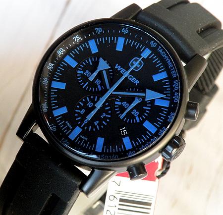 【WENGER】腕時計 時計 ウェンガー 70892ブラック×ブルー クロノグラフ タキメーター Commando/コマンド PDG ミリタリー 海外モデル