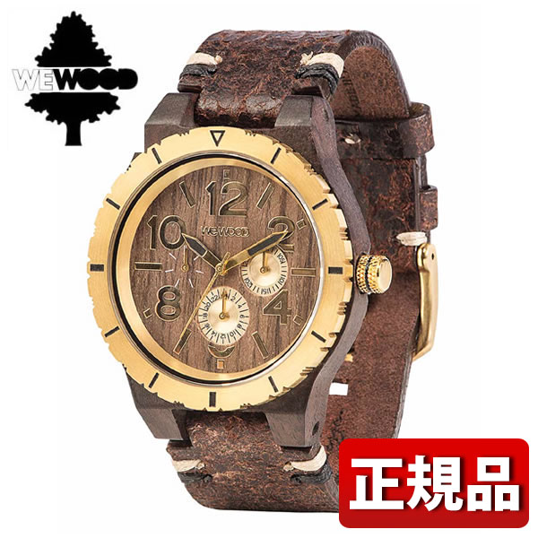 【送料無料】WEWOOD ウィーウッド KARDO MB CHOCO GOLD 木製 9818155 メンズ 腕時計 ウォッチ 茶 ブラウン 金 ゴールド 誕生日プレゼント 男性 ギフト