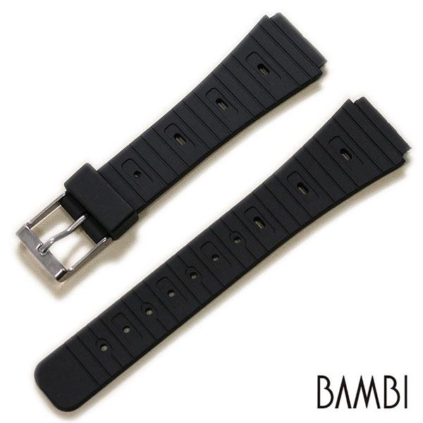 【バンビ】B-X ウレタン ブラック 18mm 時計ベルト 時計バンド