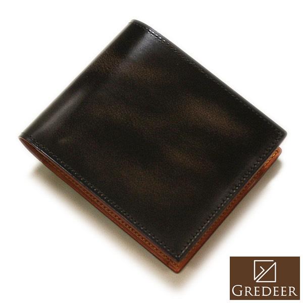 【バンビ】GREDEER グレディア 二つ折り財布 ブラウン 日本製