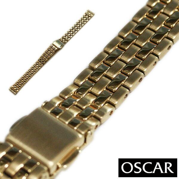 【バンビ】OSCAR オスカー メタルブレス ゴールド レディース 金属ベルト 時計ベルト 時計バンド