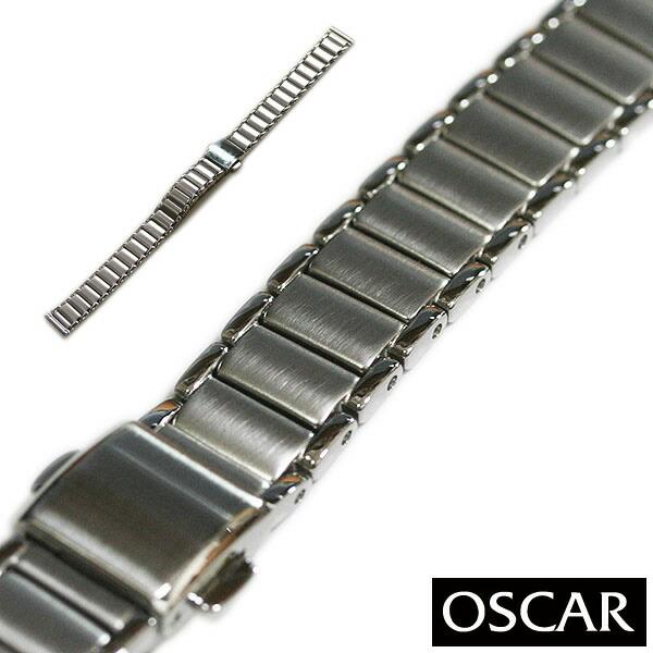 【バンビ】OSCAR オスカー メタルブレス シルバー レディース 金属ベルト 時計ベルト 時計バンド