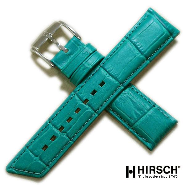 【ヒルシュ】プリンセス 型押し ホワイト/ベージュ/ピンク/レッド/ブルー/グリーン 時計ベルト