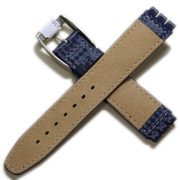 【モレラート】HILTON ヒルトン スウォッチ用 ラバー ダークブルー 17mm 時計ベルト 時計バンド