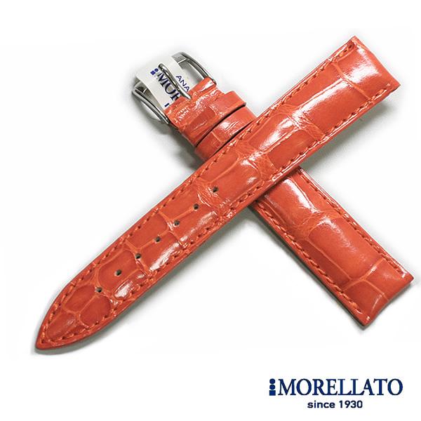 【モレラート】VOLTERRA(ボルテラ)アリゲーター ブラック/ブラウン/オレンジ/ワイン 時計ベルト