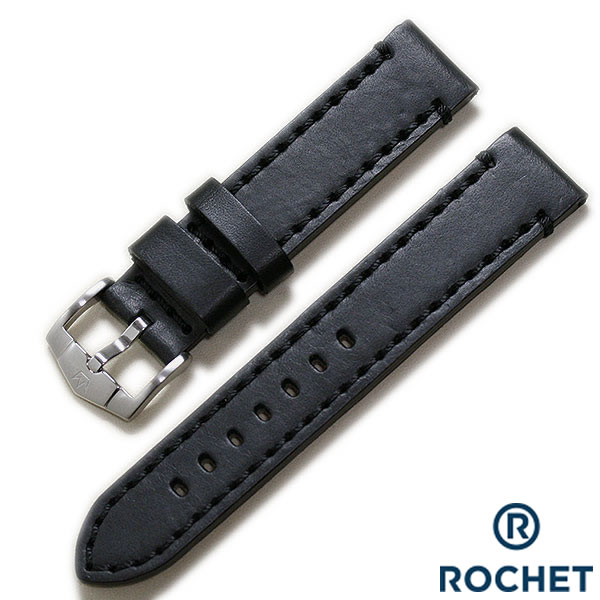 【ZRC】【ROCHET】ズッコロ KANSAS ブラック カウハイド ワイドサイズ 時計ベルト