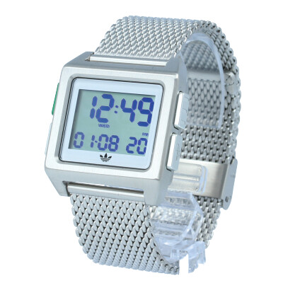 adidas / アディダス Z01-3244 ARCHIVE_M1 アーカイブ 腕時計 デジタル メッシュ シルバー ホワイト グリーン メンズ レディース ユニセックス 【あす楽対応_東海】