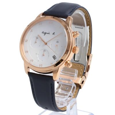 agnes b. / アニエスベー BZ5003P1 腕時計 メンズ ソーラー マルチェロ レザー クロノグラフ FBRD940 【あす楽対応_東海】
