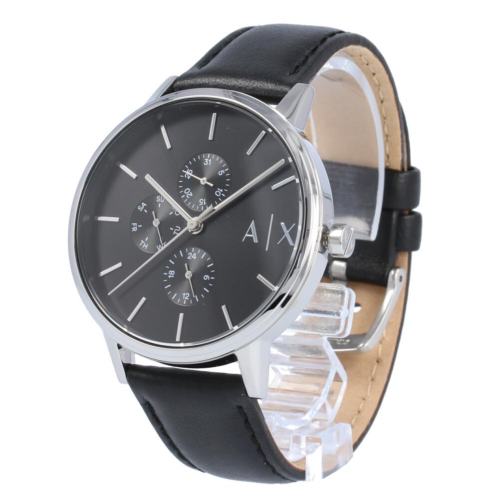 AX / アルマーニエクスチェンジ AX2717 腕時計 レディース レザー ブラック シルバー マルチファンクション 【あす楽対応_東海】