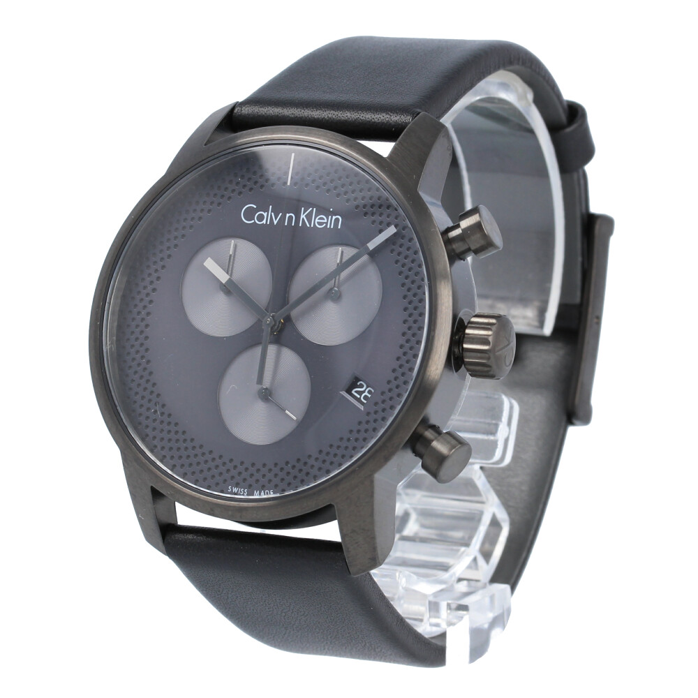 CALVIN KLEIN / カルバンクライン K2G177C3 City シティ 腕時計 メンズ ブラック クロノグラフ 【あす楽対応_東海】