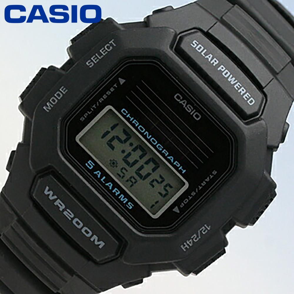 CASIO/卡西欧HDD-S100-1/强壮的太阳能200m防水