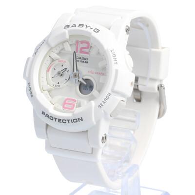 CASIO カシオ / Baby-G ベビージー BGA-180BE-7B ビーチカラーズ Gライド タイドグラフ 腕時計 レディース Beach Colors ホワイト 【あす楽対応_東海】