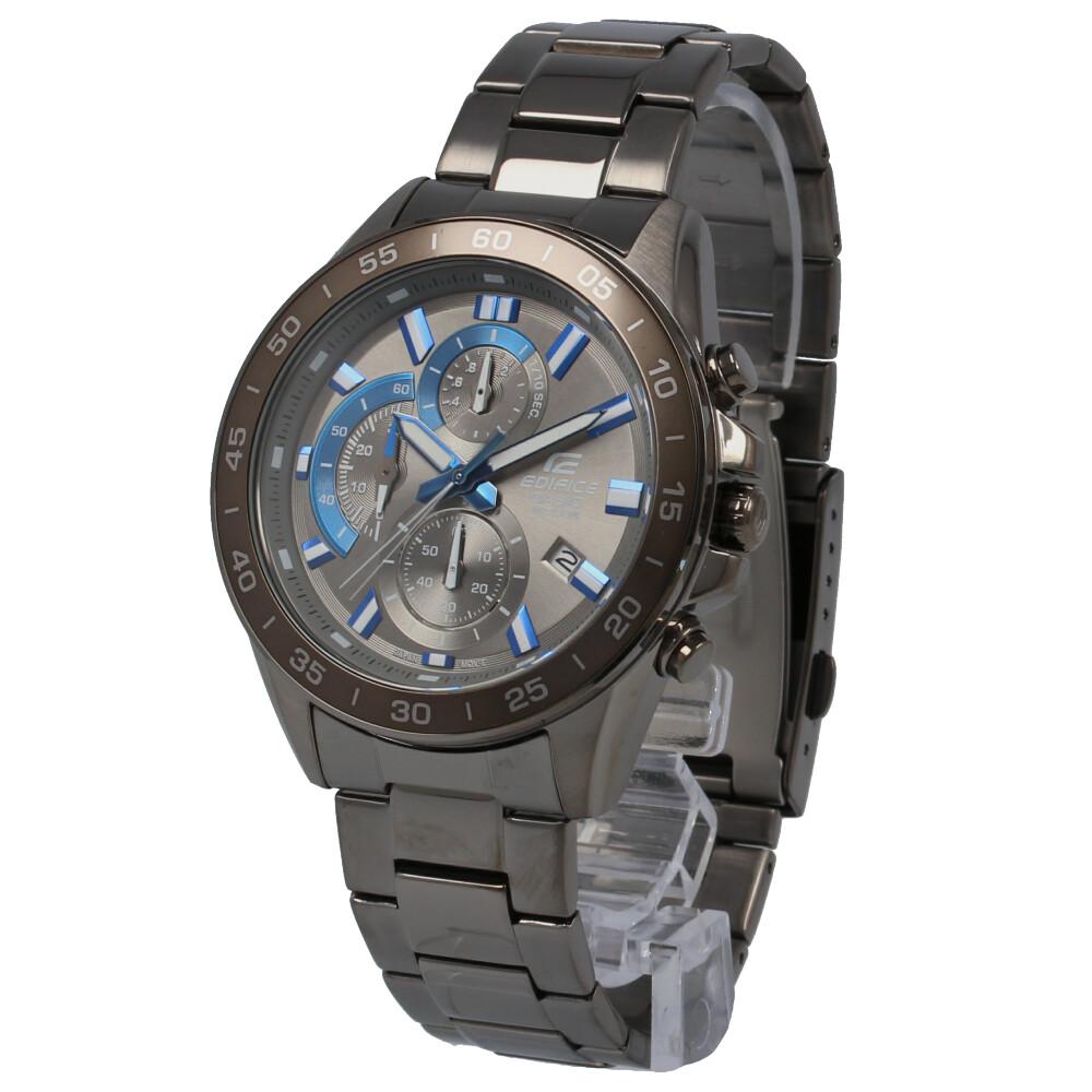 CASIO カシオ / EDIFICE エディフィス EFV-550GY-8A クロノグラフ ブルー×ガンメタ 腕時計 メンズ ステンレスブラック 【あす楽対応_東海】