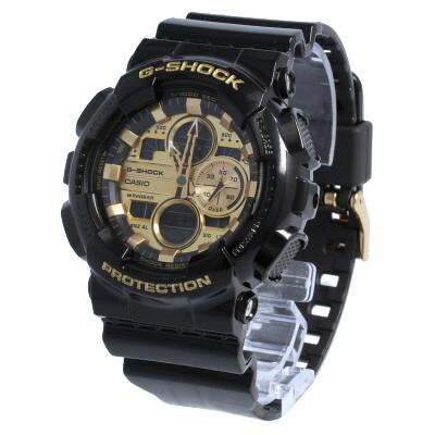 CASIO カシオ / G-SHOCK ジーショック GA-140GB-1A1 Garish Color ガリッシュカラー 腕時計 メンズ ブラック ゴールド アナデジ 【あす楽対応_東海】