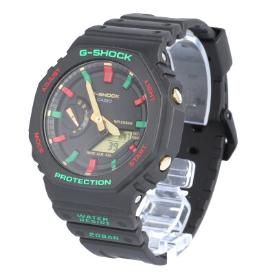 CASIO カシオ / G-SHOCK ジーショック GA-2100TH-1A ウィンタープレミアム カーボンコアガード 腕時計 メンズ アナデジ ブラック レッド グリーン Throwback 1990s 【あす楽対応_東海】