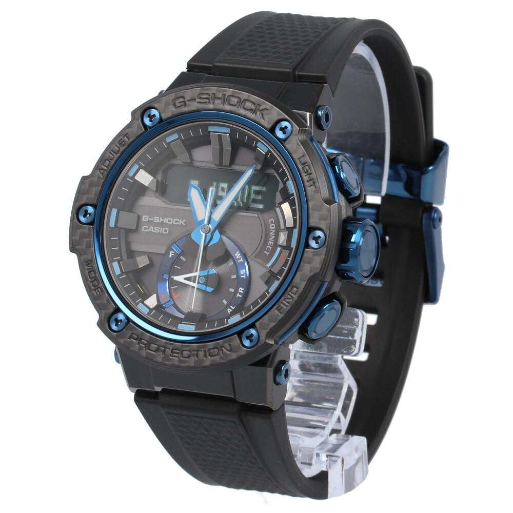 CASIO カシオ / G-SHOCK ジーショック GST-B200X-1A2 タフソーラー カーボンベゼル Bluetooth カーボンコアガード構造 G-STEEL ジースチール 腕時計 メンズ ブラック ブルー 【あす楽対応_東海】