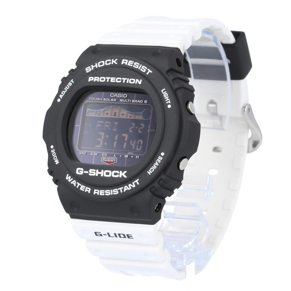 CASIO カシオ / G-SHOCK ジーショック GWX-5700SSN-1 G-LIDE ジーライド デジタル 腕時計 メンズ モノトーン ブラック ホワイト 電波ソーラー マルチバンド6 【あす楽対応_東海】
