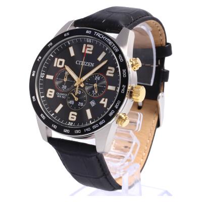 CITIZEN / シチズン AN8166-05E クロノグラフ タキメーター 腕時計 メンズ レザーベルト 【あす楽対応_東海】