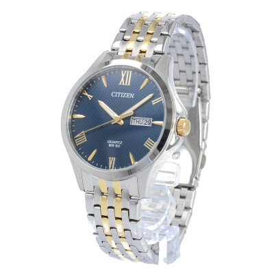 CITIZEN / シチズン BF2024-50L 腕時計 メンズ ステンレス シルバー ゴールド コンビ ネイビー クオーツ カレンダー  【あす楽対応_東海】