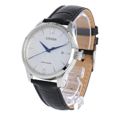 CITIZEN / シチズン NJ0110-18A 自動巻き 腕時計 メンズ レザー シルバー ブラック auto 【あす楽対応_東海】