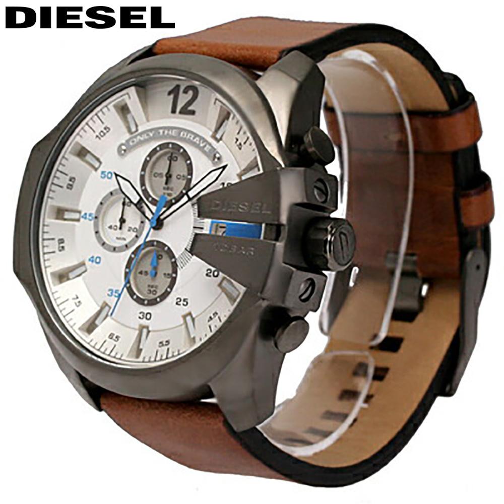 DIESEL / ディーゼル DZ4280 / MEGA CHIEF メガチーフ メンズ 腕時計 クロノグラフ レザー 【あす楽対応_東海】