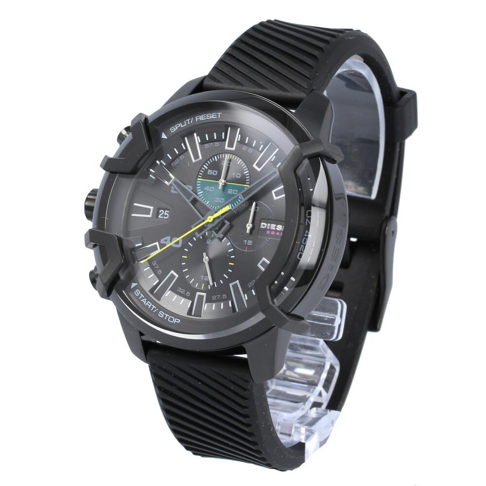 DIESEL / ディーゼル GRIFFED グリフド DZ4520腕時計 メンズ ブラック クロノグラフ レザー 【あす楽対応_東海】