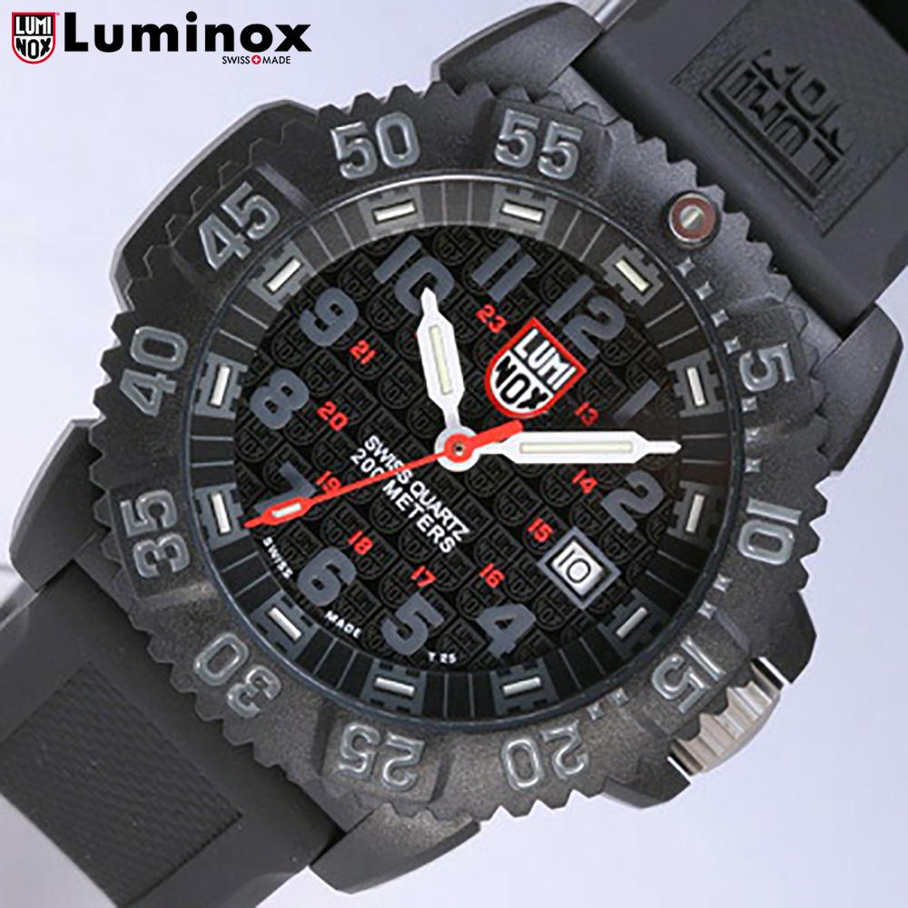 有LUMINOX/Lumi敲门3051XM黑色(橡胶皮带)SWISS QUARTZ/Navy SEALs COLORMARK SERIES 2008 SPECIAL MODEL T25书写方式