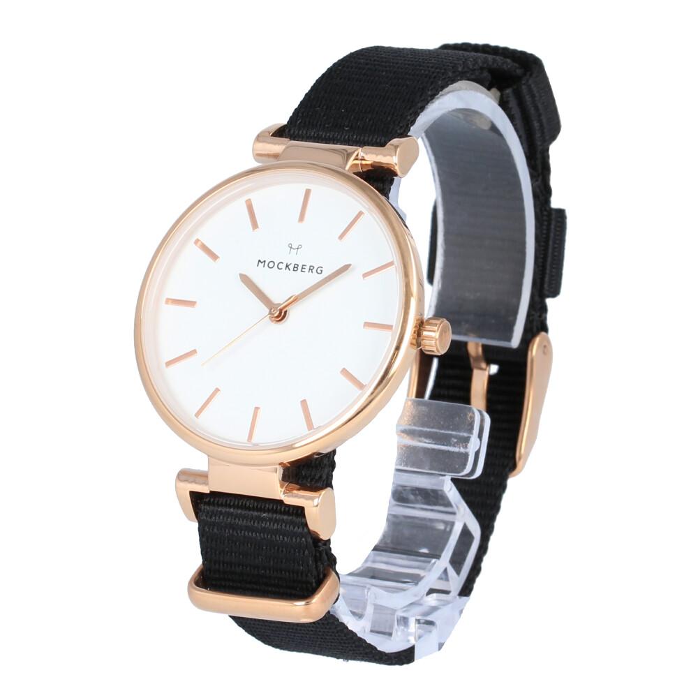 MOCKBERG / モックバーグ MO616 Modest モデスト 腕時計 レディース ナイロン ローズゴールド ブラック NATO 【あす楽対応_東海】