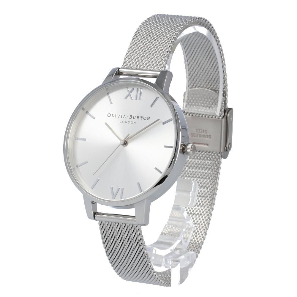 OLIVIA BURTON / オリビアバートン OB16BD104 腕時計 レディース ビッグダイヤル シルバー サンレイメッシュ 【あす楽対応_東海】
