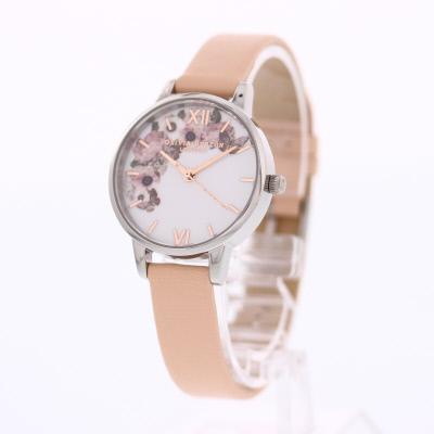 OLIVIA BURTON / オリビアバートン OB16EG75Midi Signature Floral 腕時計 レディース レザー ピーチベージュ 花 フローラル 【あす楽対応_東海】