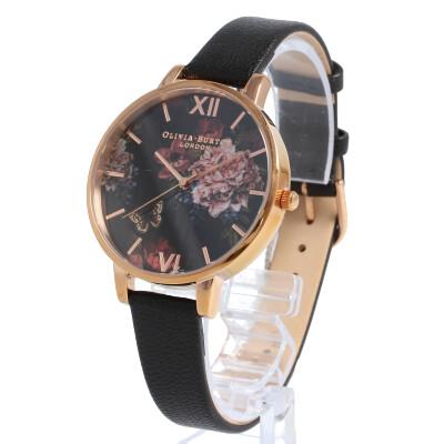 OLIVIA BURTON / オリビアバートン OB16WG42 Dark Bouquet ダークブーケット 腕時計 レディース レザー ブラック ローズゴールド 花 フラワー 【あす楽対応_東海】
