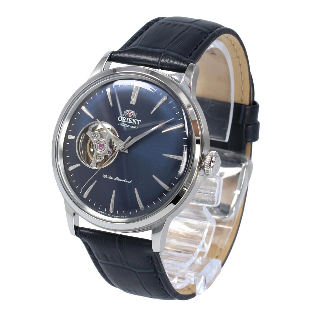 ORIENT / オリエント RN-AG0008L CLASSIC クラシック 腕時計 メンズ 自動巻き レザー ブラック シルバー ネイビー セミスケルトン シースルーバック 【あす楽対応_東海】