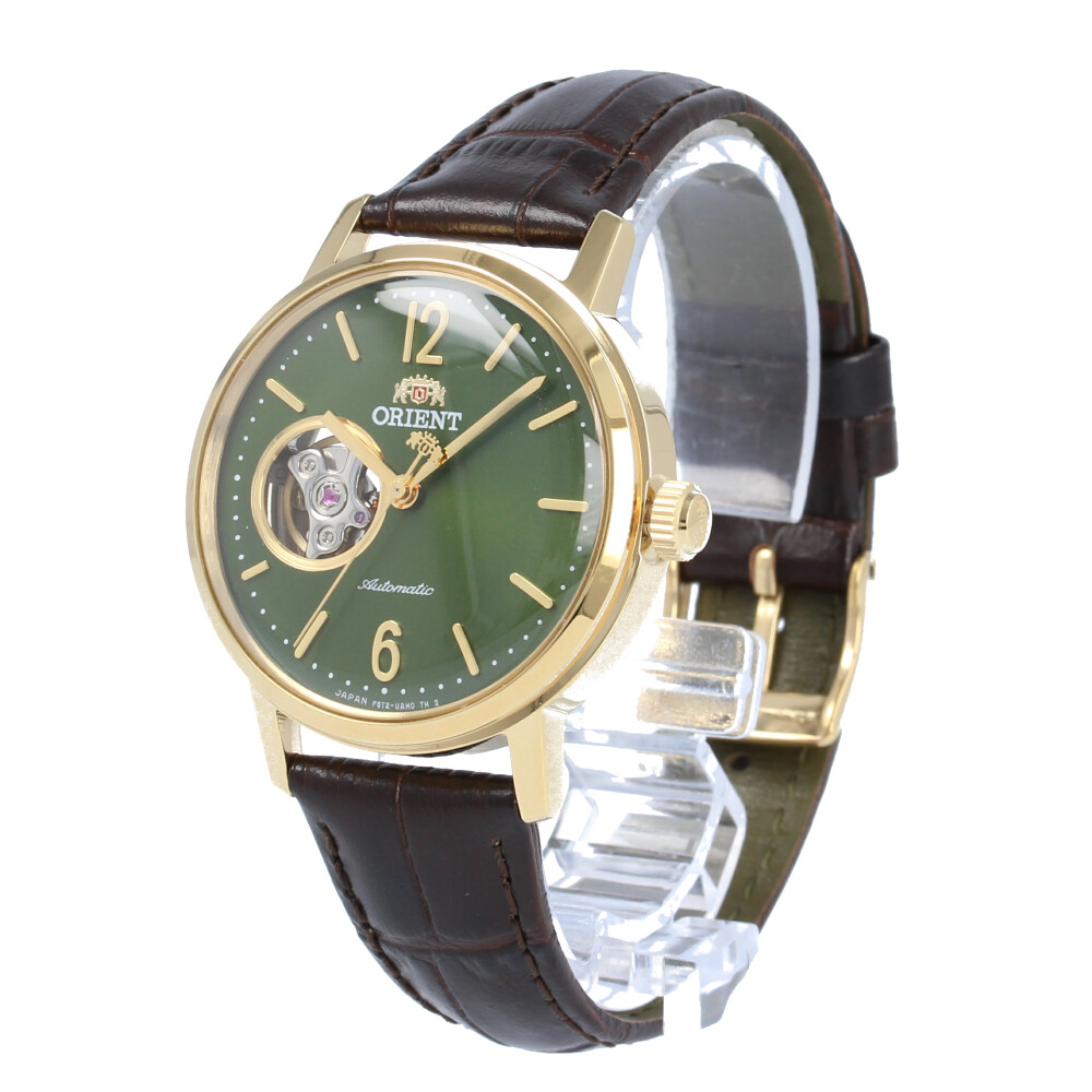 ORIENT / オリエント RN-AG0020E CLASSIC クラシック 腕時計 メンズ 自動巻き レザー ブラック ゴールド グリーン セミスケルトン シースルーバック 【あす楽対応_東海】