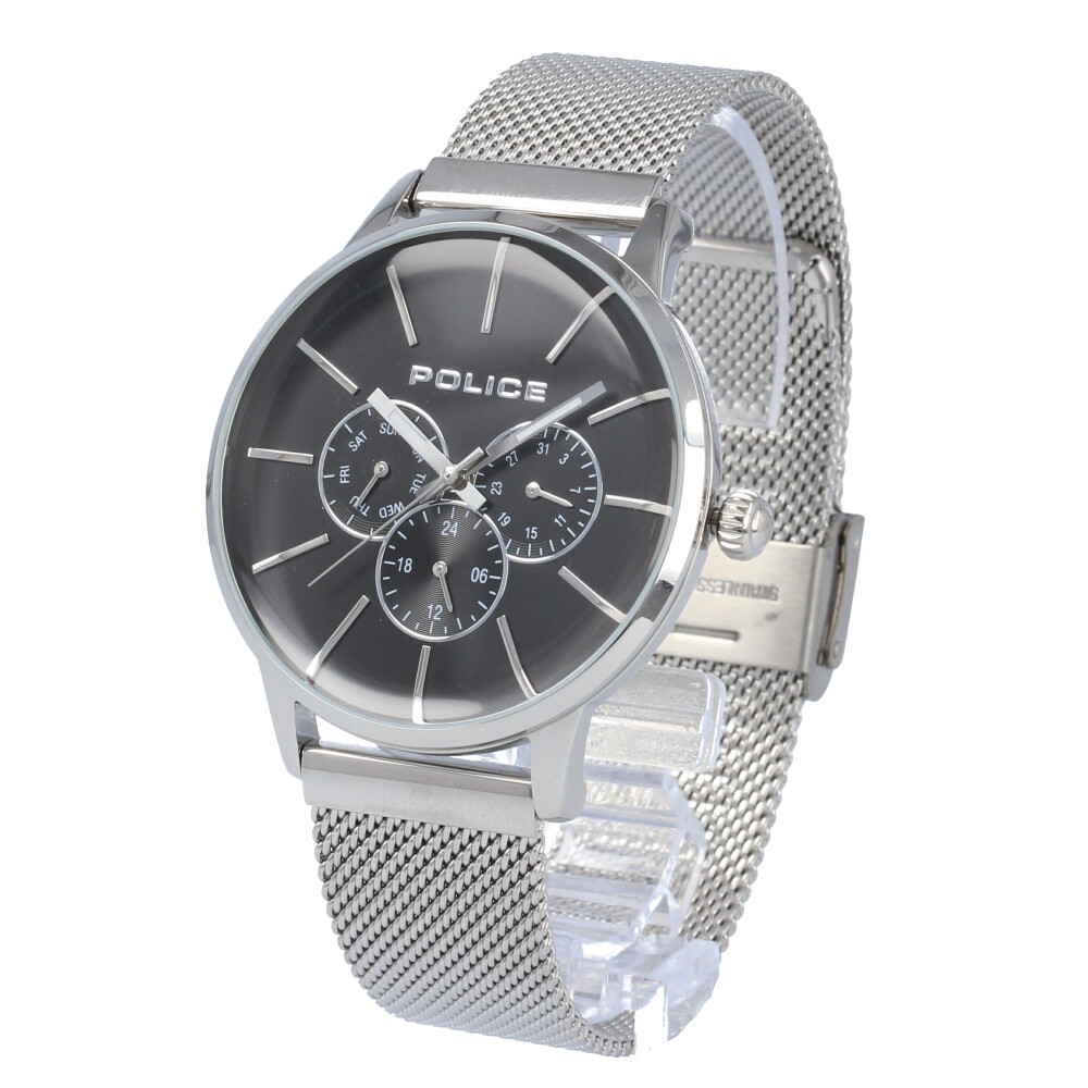 POLICE / ポリス PL.14999JS/02MM Swift スウィフト 腕時計 メンズ メッシュ ステンレス シルバー ブラック マルチファンクション 【あす楽対応_東海】