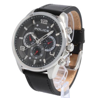 POLICE / ポリス PL.15658JS/02 Durdle ダードル 腕時計 メンズ レザー ブラック マルチファンクション 【あす楽対応_東海】