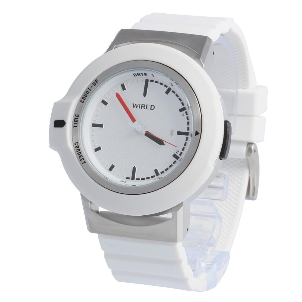SEIKO WIRED / セイコー ワイアード WW ツーダブ AGAB402 腕時計 メンズ レディース ユニセックス タイムコネクト ホワイト パーペチュアルカレンダー 【あす楽対応_東海】
