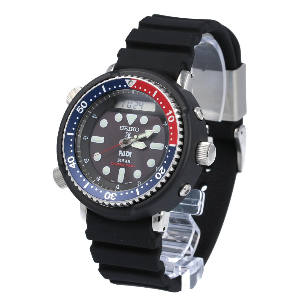 SEIKO PROSPEX / セイコー プロスペックス SBEQ003 ダイバーズウォッチ ソーラー 腕時計 メンズ ブラック ラバー PADIモデル 【あす楽対応_東海】