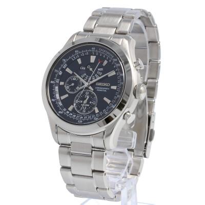 SEIKO / セイコー SPC125P 腕時計 メンズ クロノグラフ パーペチュアル ステンレス シルバー ブルー 【あす楽対応_東海】