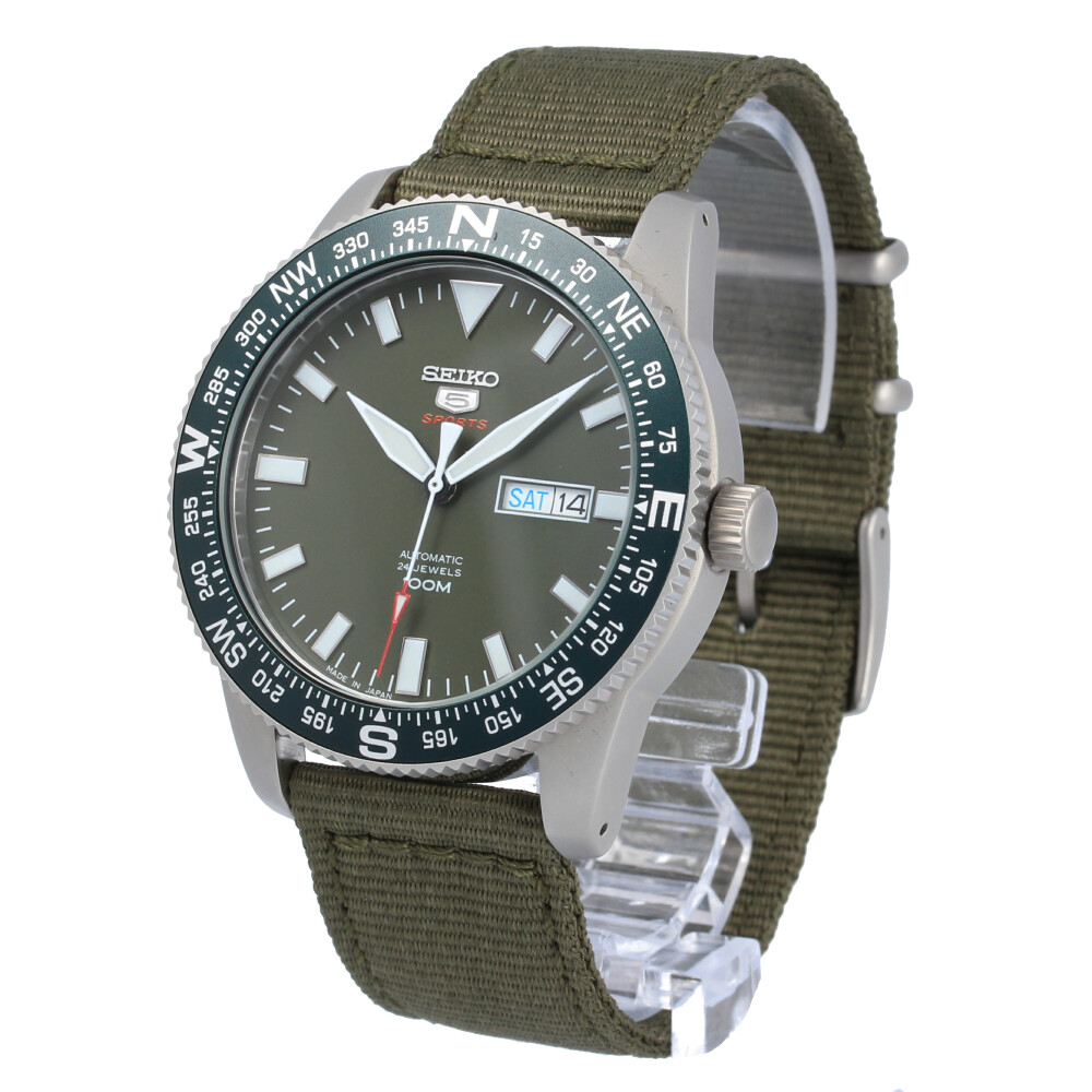 SEIKO 5 SPORTS / セイコーファイブ スポーツ SRP663J 腕時計 メンズ ナイロン 手巻き付き機械式 グリーン 【あす楽対応_東海】